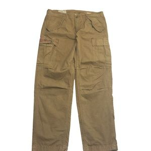Polo Ralph Laure Cargo Pants Military Army Sz 36